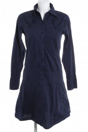 Review Shirtwaist dress dark blue casual look