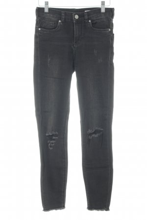 Review High Waist Jeans schwarz Street-Fashion-Look