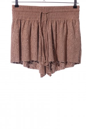 Review High-Waist-Shorts braun Casual-Look