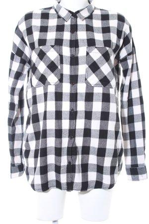 Review Chemise de bûcheron noir-blanc motif à carreaux style décontracté