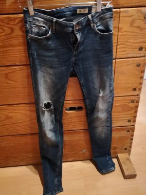 Review Jeans Mini Skinny 34 used destroyed