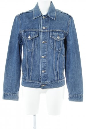 Review Jeansjacke blau-stahlblau Casual-Look