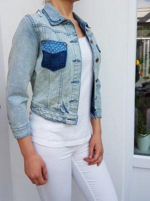 Review Jeansjacke Denim crop oversize kurze Jacke american destroyed used look