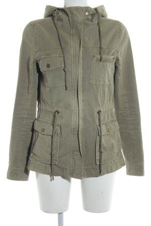 Review Veste en jean gris vert style décontracté