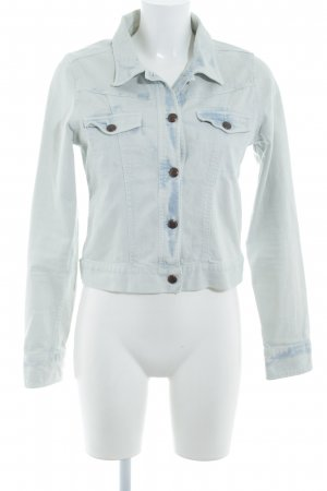 Review Veste en jean beige clair-bleu pâle lavage à l'acide