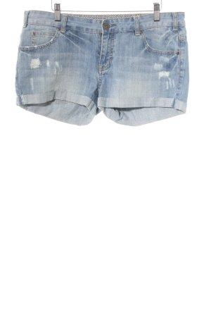Review Jeansshorts stahlblau Jeans-Optik