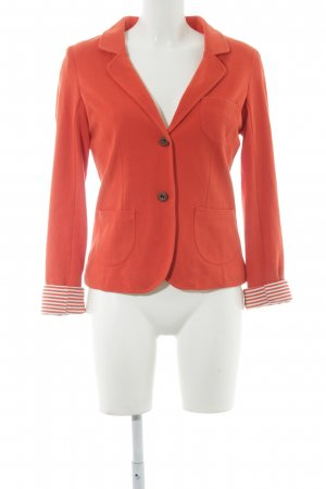 Review Jerseyblazer orange klassischer Stil