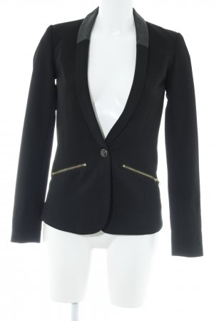 Review Jerseyblazer schwarz Business-Look