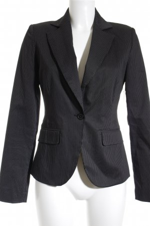 Review Jersey Blazer black-light grey striped pattern business style