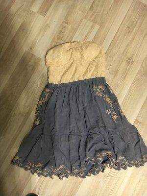 Review Kleid Blaugrau / Creme Gr. S
