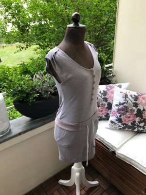 Review Robe Sweat gris brun-blanc cassé coton
