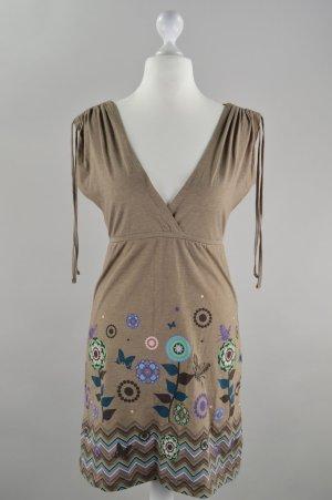 Review Kleid mit Muster braun Größe M