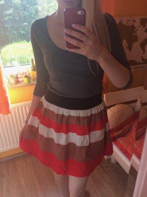 Review Kleid tailliert mit Streifen