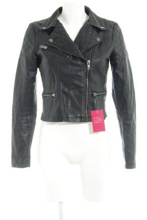 Review Veste en cuir synthétique noir Look de motard
