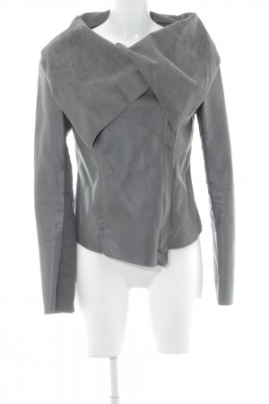 Review Kunstlederjacke taupe-dunkelgrau Casual-Look