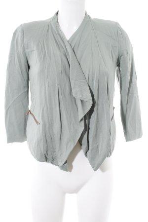 Review Veste courte gris vert style simple