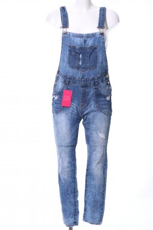 Review Dungarees blue casual look