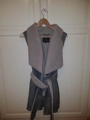 Review Leather Vest light grey imitation leather
