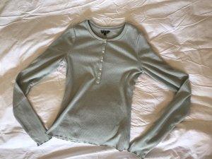 Review Long Shirt sage green-pale blue