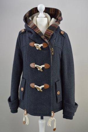 Review Mantel Dufflecoat Wolle grau Größe XS