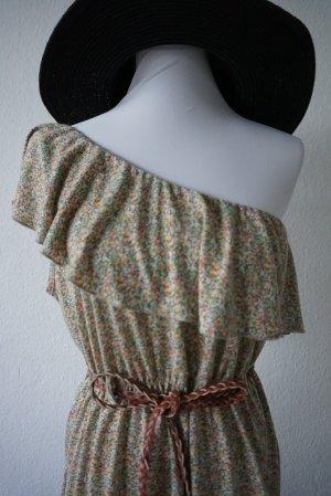 Review Minikleid florales Muster, One Sholder Sommerkleid
