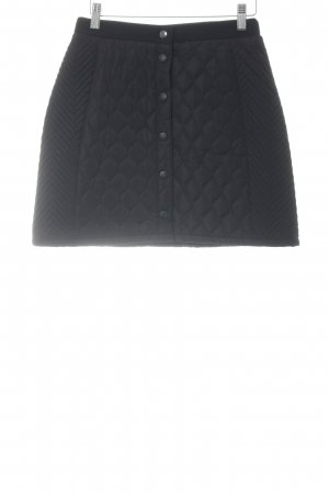 Review Miniskirt black quilting pattern casual look