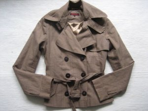 review peek & cloppenburg jacke trench business neu braun kariert tartan gr. s
