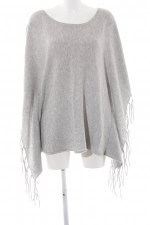 Review Poncho hellgrau meliert Casual-Look