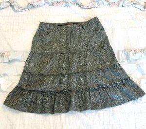 Review Flounce Skirt white-black