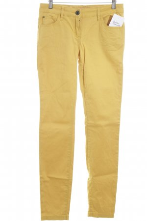 Review Pantalon cigarette jaune foncé style simple