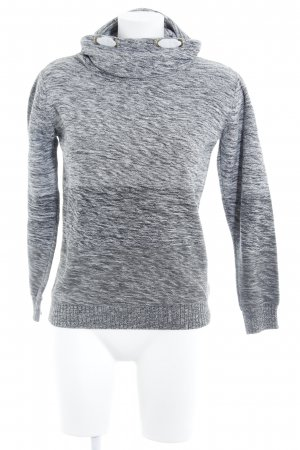 Review Jersey de cuello alto blanco-gris moteado look casual