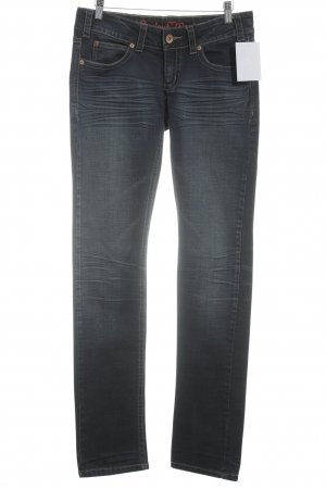 Review Straight-Leg Jeans dunkelblau Casual-Look