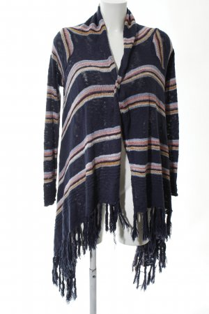 Review Strick Cardigan Streifenmuster Casual-Look
