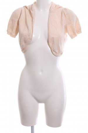 Review Strickjacke creme meliert Casual-Look