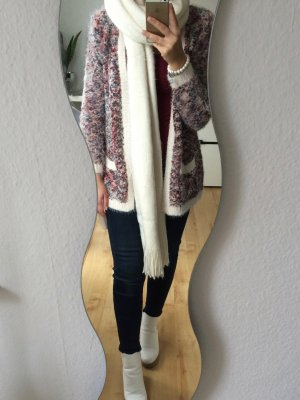 Review Strickjacke flauschig creme bunt