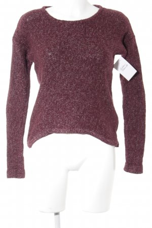 Review Strickpullover bordeauxrot Casual-Look