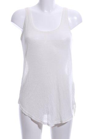 Review Top lavorato a maglia bianco stile semplice