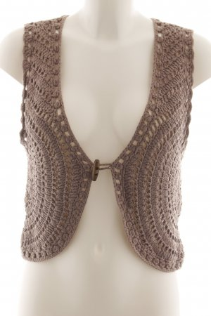 Review Knitted Vest brown casual look