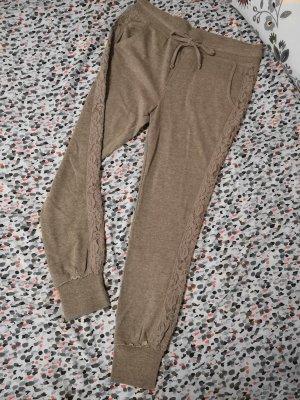 REVIEW Sweatpants – Grau mit Spitze