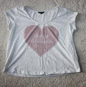 """Review T-Shirt mit Aufdruck """"High Standards"""""""