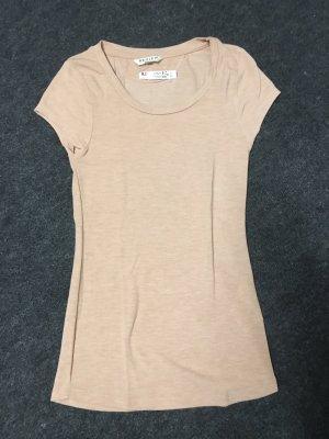 Review T-Shirt nude neu Etikett XS 34 kurzärmlig