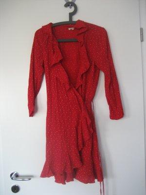 Review Wickelkleid rot gepunktet wie neu Gr. L