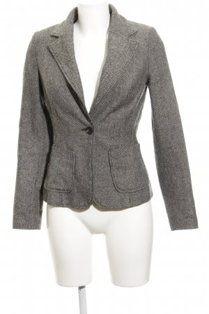 Review Wool Blazer grey-black herringbone pattern elegant