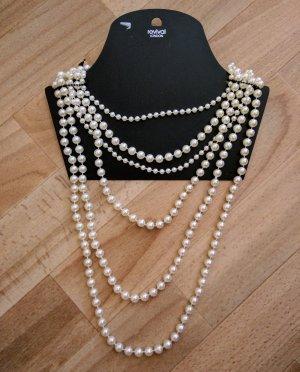 Rock Revival Collar de perlas blanco puro