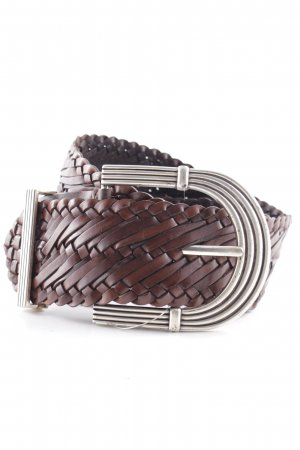 RH Braided Belt dark brown Boho look