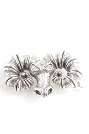 RH Belt Buckle silver-colored extravagant style