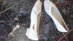 Loafer bianco Pelle