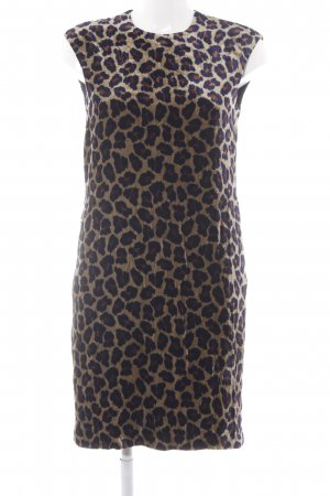 Riani A-Linien Kleid dunkelblau-sandbraun Animalmuster Animal-Look