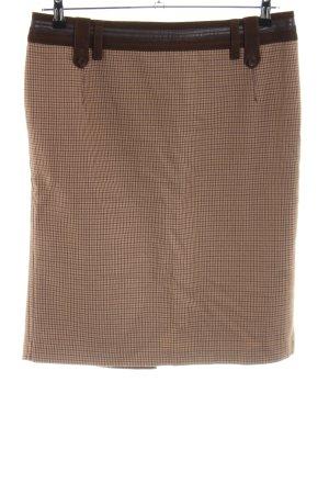 Riani Kokerrok bruin-nude volledige print zakelijke stijl