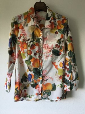 Riani Bluse Printbluse Sommer Obst 34 bunt Baumwolle
